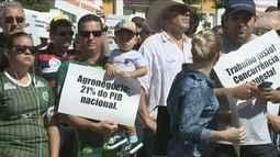Protesto em Chapecó apoia a carne produzida no Oeste catarinense