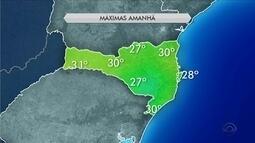 Domingo (26) tem sol e temperaturas amenas em regiões de SC