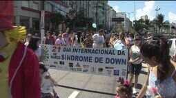 Caminhada Down é realizada em São Vicente