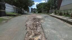 Obra incompleta atrapalha moradores do Olho d'Água, em São Luís