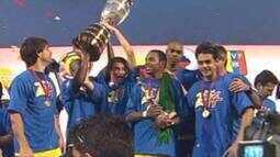 Os títulos de Copa América do Brasil sobre a Argentina em 2004 e 2007