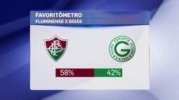 """""""Favoritômetro"""" aposta em duelo equilibrado, mas leve vantagem do Fluminense sobre o Goiás"""