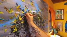 O artista do Parque do Itatiaia