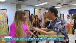 Carol Paixão faz aula de dance clipe com famosas