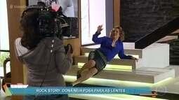 Confira os bastidores do ensaio fotográfico de Néia em 'Rock Story'
