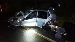 Três pessoas morrem em capotamento na BR-365, em Pirapora