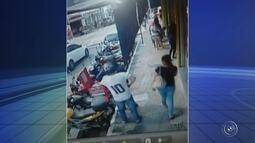Ladrão aponta arma para motoboy durante tentativa de assalto no Centro de Itu
