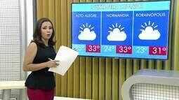 Confira como fica a previsão do tempo para esta quinta-feira (27) em Roraima