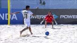 Começou a Copa do Mundo de futebol de areia em lugar paradisíaco nas Bahamas