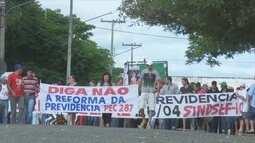 Protestos acontecem por todo o estado de Rondônia contra reforma previdenciária