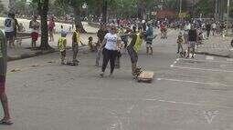 Crianças aproveitaram o domingo na Rua de Lazer