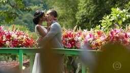 Joana e Giovane comemoram o casamento