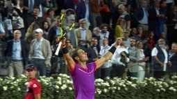 Pontos finais de Jack Sock 0 x 2 Rafael Nadal pelo Masters 1000 de Roma