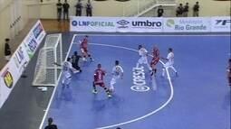 Os gols de Paraíso 3 x 3 Minas pela Liga Nacional de futsal