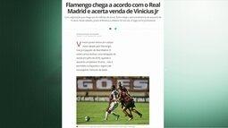 Flamengo acerta a venda de Vinícius Júnior para o Real Madrid por 45 milhões de euros