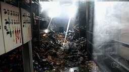 Incêndio destrói parte de supermercado no Setor São Judas Tadeu, em Goiânia