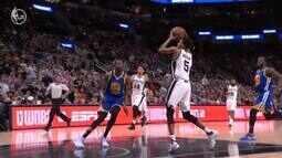 Confira as melhores jogadas de Kevin Durant na vitória do Warriors sobre o Spurs