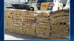 Polícia Rodoviária apreende cerca de 750 kg de maconha em veículo