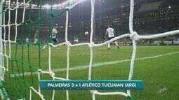 Confira os gols da vitória do Palmeiras sobre o Atlético Tucumán pela Taça Libertadores