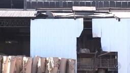 Bombeiros retiram corpo de terceira vítima de explosão em fábrica de Andradina
