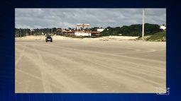 Veículo é flagrado circulando irregularmente em praia de São Luís