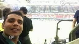 Richard Souza mostra ambiente dentro do Estádio Nacional de Cardiff