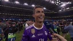 Cristiano Ronaldo fala sobre o título da Chapions, recorde de gol e solta o grito