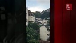 """Imagens enviadas pelo aplicativo """"Na Rua GloboNews"""" mostram tiros no Pavão-Pavãozinho"""