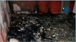 Em Mirabela, brincadeira com palha de aço e fogo pode ter provocado incêndio em casa