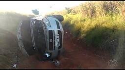 Idosa morre após carro capotar em Morrinhos
