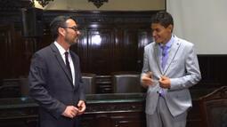 Danilo Silva conhece juiz e assiste à palestra especial