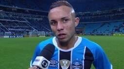 Mesmo vencendo por 4 a 0, Everton não acredita que vaga do Grêmio está garantida