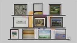 Arte: confira obras da mostra 'A Paisagem no Tempo', de Carlos Petrucci e Acervo do Margs