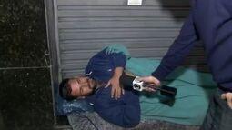 Gaúcho dorme nas ruas do Rio em busca de emprego e do pai