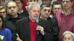 Lula discursa sobre condenação que sofreu pelo juiz Sergio Moro