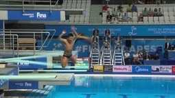 Mexicanos erram salto e tiram 0 no 1º salto no trampolim de 3m no Mundial de Natação