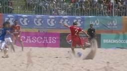 Os gols de Rússia 5 x 2 França pelo Mundialito de futebol de Areia em Portugal
