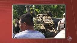 Acidente termina com três mortos e quatro feridos na região de Amargosa