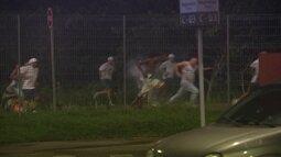 Confusão é registrada na saída da Arena de Pernambuco