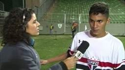 Marrento ou visionário? Rodrigo Nestor, do São Paulo, promete título no intervalo e cumpre