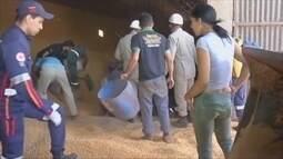 Menino que morreu soterrado por milho em silo é velado em Vilhena, RO