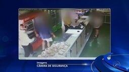 Câmera de segurança flagra assalto em padaria de Cerquilho