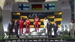 Confira a cerimônia de pódio do GP da Hungria