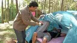 Plugue acompanha grupo que aproveita frio do inverno para acampar - Parte 1