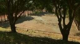 Antigas quadras de esportes ao lado do estádio Mané Garrincha estão em péssimas condições