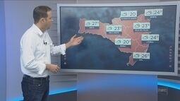 Confira a previsão do tempo para Santa Catarina nesta sexta-feira (18)