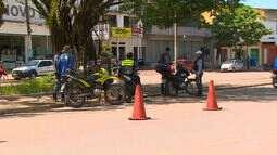 Aumentou o número de apreensões de armas de fogo e motos roubadas em Santana