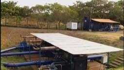 Segunda bomba de transposição de água para o Rio Uberaba é ligada no Rio Claro