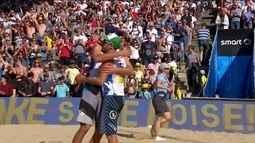 André/Evandro 0 x 2 Dalhausser/Lucena pelo Torneio dos Campeões de vôlei de praia