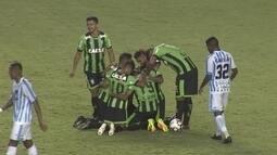 O gol de Paysandu 0 x 1 América-MG pela 23ª rodada da série B do Brasileirão